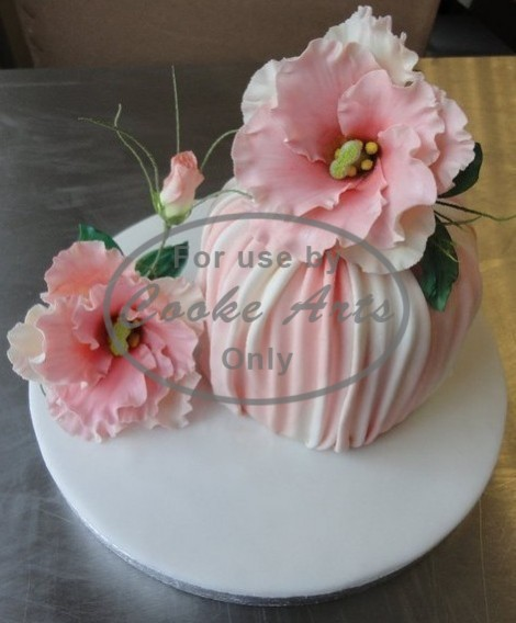 1 Tier Celebration Cake with Sugar Flowers