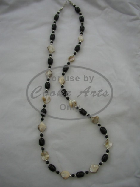 Necklace - Mother of Pearl, Onyx, Agate & Silver
