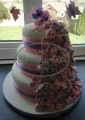 3 Tier Celebration Cake with Sugar Decorations and Butterfies