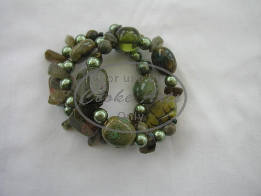 Ceramic, Linakite, Labadorite, Murano Glass & Pearls