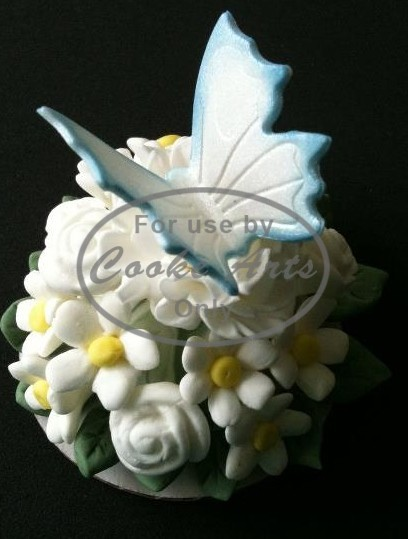 Sugar Flowers and Butterfly