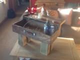 Wood Drinks Table