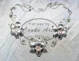 Neckpiece: 925 Silver & Rose Quartz, Green Quartz, Peridot